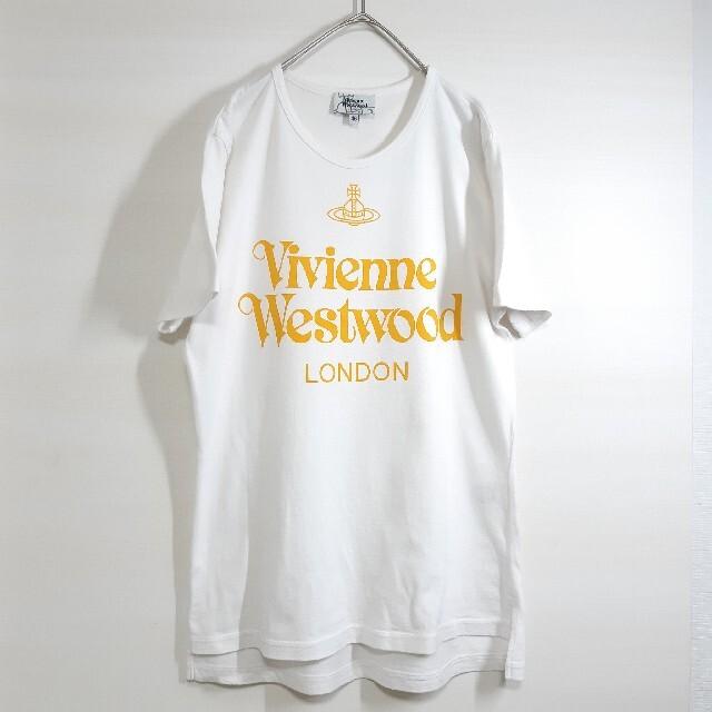Vivienne Westwood(ヴィヴィアンウエストウッド)のVivienne Westwood ロゴ 半袖 Tシャツ ホワイト メンズ M メンズのトップス(Tシャツ/カットソー(半袖/袖なし))の商品写真