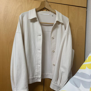 UNIQLO - UNIQLO ジャージーリラックスジャケット オフホワイト XL