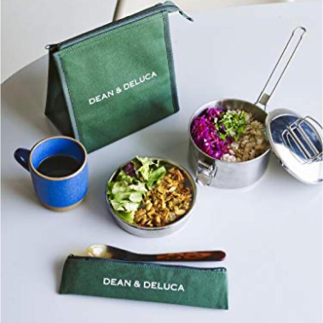 DEAN & DELUCA(ディーンアンドデルーカ)のDEAN&DELUCA 保冷ランチバッグ&カトラリーポーチ  インテリア/住まい/日用品のキッチン/食器(弁当用品)の商品写真