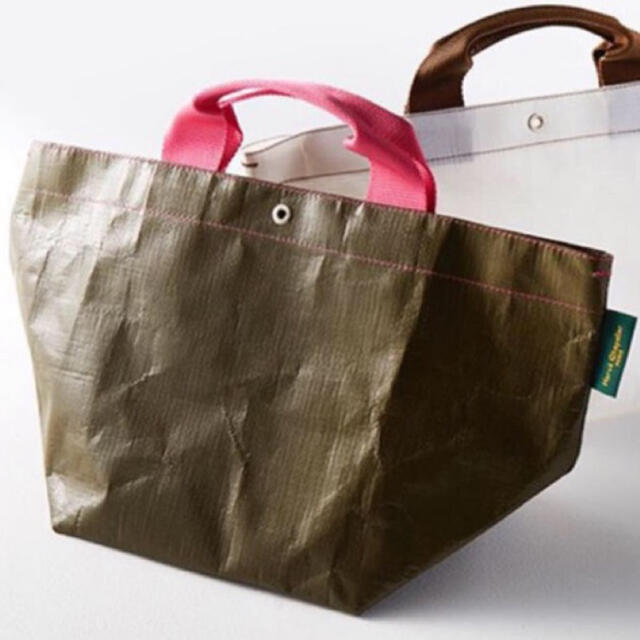 Herve Chapelier(エルベシャプリエ)の新品タグ付GLR別注  Herve Chapelier マルシェバックOLIVE レディースのバッグ(トートバッグ)の商品写真