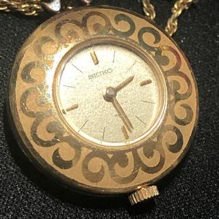 SEIKO - SEIKO 手巻き レディースネックレス懐中時計 稼動品