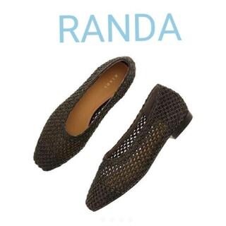 RANDA - RANDA メッシュフラットシューズ スクエア パンプス