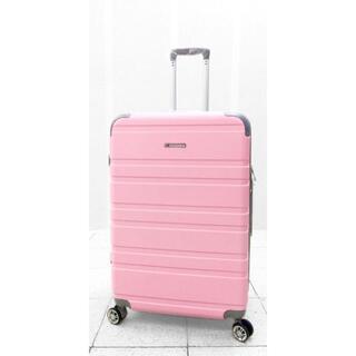 大型軽量スーツケース 8輪キャリーバッグ TSAロック付き Lサイズ ピンク(旅行用品)