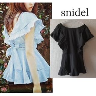 snidel - 【スナイデル】ブラック ラッフル ブラウス