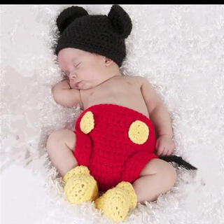Disney - ディズニー ミッキー 新生児フォト 出産祝い 寝相アート コスプレ 記念撮影