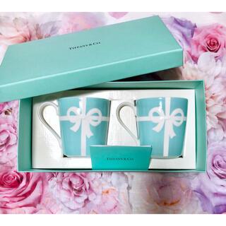 Tiffany & Co. - ティファニー♥2点set♥カップ♥ブルー リボン コップ 食器