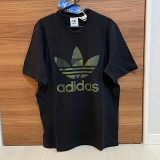 adidas - ★新品★アディダスオリジナルス カモフラ ビッグロゴ 黒 Tシャツ
