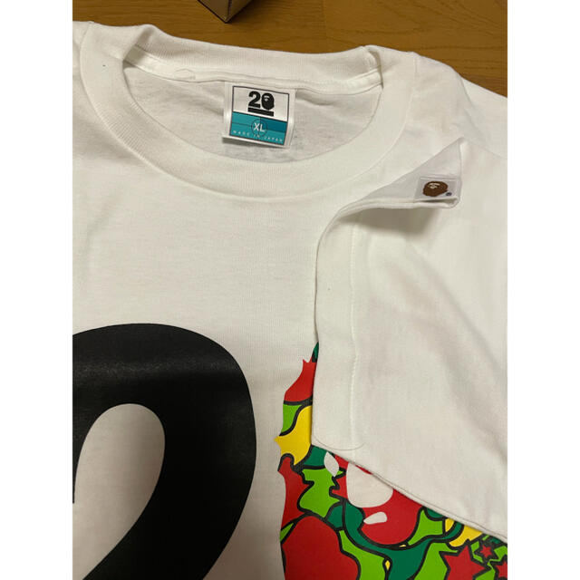 A BATHING APE(アベイシングエイプ)の激レア 新品未使用 BAPE 20周年記念限定Tシャツ サイケカモ XL  メンズのトップス(Tシャツ/カットソー(半袖/袖なし))の商品写真