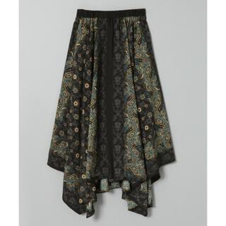 JEANASIS - ジーナシス アソートスカーフアシメスカート