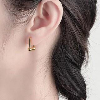 ゴールドボックスピアス 両耳 S925