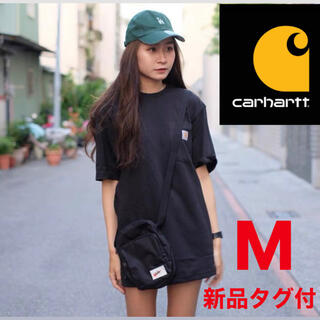 カーハート(carhartt)の【新品タグ付】カーハートCarhartt黒tシャツ 半袖Mワンポイントポケット(Tシャツ(半袖/袖なし))