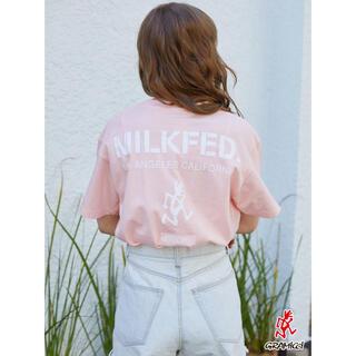 ミルクフェド(MILKFED.)の新品♡ミルクフェド×グラミチ コラボTシャツ ピンク(Tシャツ(半袖/袖なし))