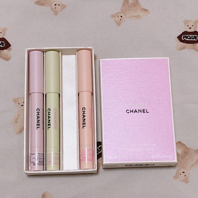 CHANEL(シャネル)のCHANEL  チャンス  クレヨンパルファム  3本 コスメ/美容の香水(香水(女性用))の商品写真