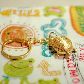 金運アップ!幸福の銭亀キーホルダー