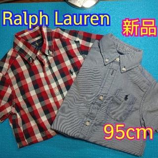 ラルフローレン(Ralph Lauren)の新品Ralph Lauren(2T)半袖シャツ2枚(Tシャツ/カットソー)