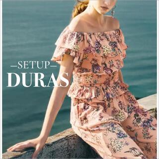 デュラス(DURAS)のDURAS オリジナル柄 フリルトップス フレアパンツ*2点 セット(セット/コーデ)