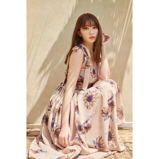 Sunflower-printed Midi Dress(ロングワンピース/マキシワンピース)