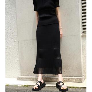 LE CIEL BLEU - 完売Transparent Long Knit Skirt⭐︎