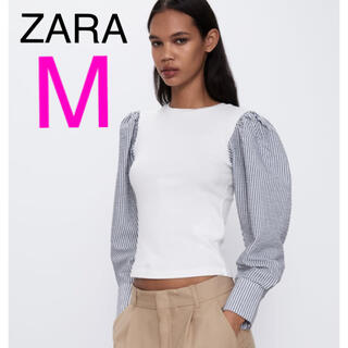 ZARA - 新品ZARAコントラスト トップスM