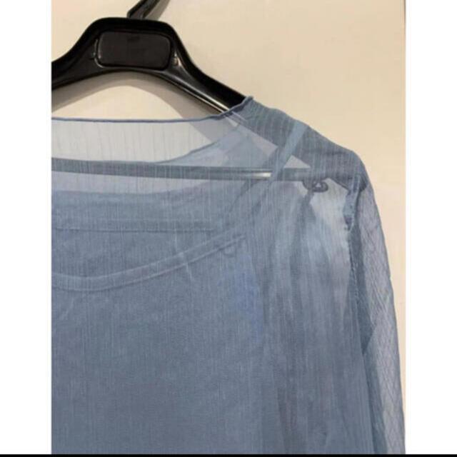 Mila Owen(ミラオーウェン)の【新品未使用】乃木坂46 白石麻衣 着用 水色ブラウス レディースのトップス(シャツ/ブラウス(長袖/七分))の商品写真