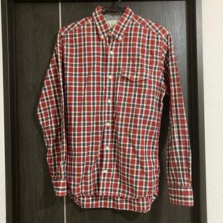 GLOBAL WORK - グローバルワーク チェックシャツ 赤 メンズ Mサイズ