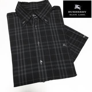 BURBERRY BLACK LABEL - バーバリー ブラックレーベル ノバチェック柄 半袖 シャツ M