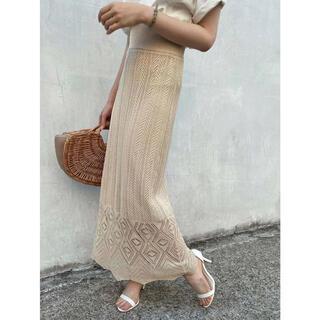 (新品) かぎ編み風タイトスカート