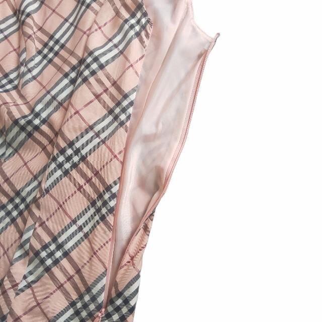 BURBERRY BLUE LABEL(バーバリーブルーレーベル)の【美品】BURBERRY  バーバリー  ノバチェック ノースリーブワンピースS レディースのワンピース(ひざ丈ワンピース)の商品写真