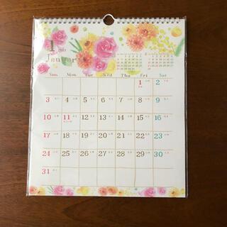 未使用、2021年、花柄、壁掛けカレンダー(カレンダー/スケジュール)