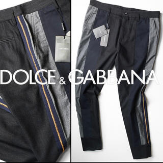 ドルチェアンドガッバーナ(DOLCE&GABBANA)の新品DOLCE&GABBANAパッチワーク7分丈パンツ50/ドルチェ&ガッバーナ(デニム/ジーンズ)
