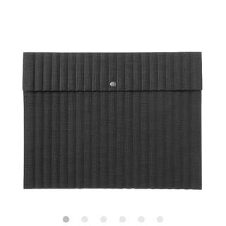 ムジルシリョウヒン(MUJI (無印良品))の無印良品 クッションケース・スナップ式A5サイズ用・黒(その他)