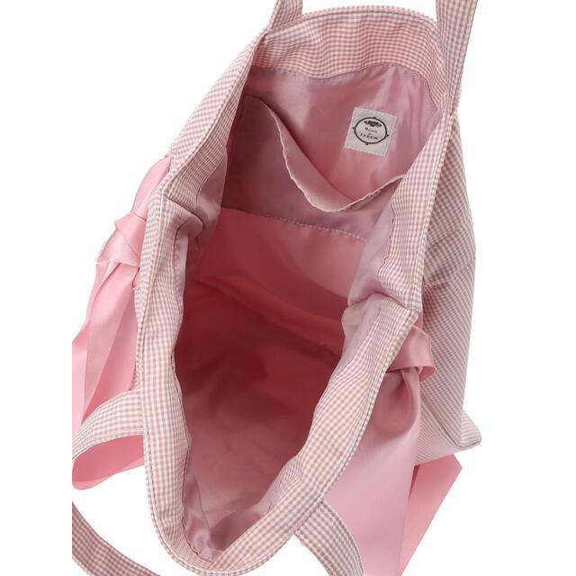 Maison de FLEUR(メゾンドフルール)のメゾンドフルール ラビットチャーム付きダブルリボントートバッグ ピンク レディースのバッグ(トートバッグ)の商品写真