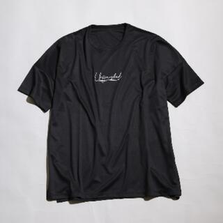 MB刺繍シルキーTシャツ ブラック L(Tシャツ/カットソー(半袖/袖なし))