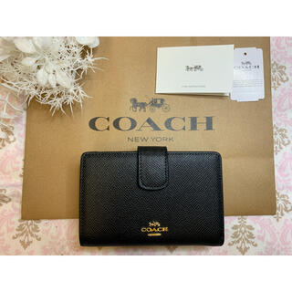 コーチ(COACH)のCOACH コーチ 折財布 シンプルブラック(財布)