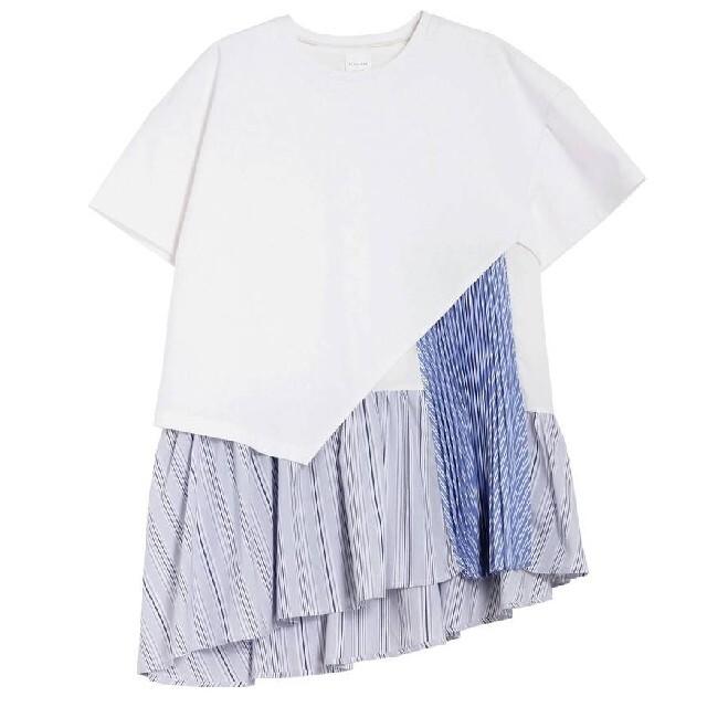 ELENDEEK エレンディーク ヘムフレアプリーツカットソーセット レディースのトップス(Tシャツ(半袖/袖なし))の商品写真