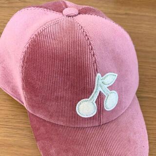 Bonpoint - 新品 ボンポワン bonpoint チェリー キャップ 帽子 ピンク T5