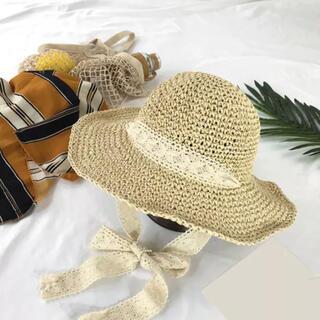 女性の夏の日焼け漁師帽子テザー手作りかぎ針帽子ビーチ休暇サンシェード帽子(麦わら帽子/ストローハット)