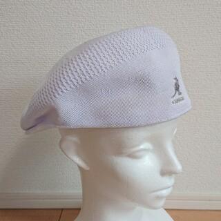 カンゴール(KANGOL)のL 美品 KANGOL TROPIC 504 VENTAIR ハンチング 白(ハンチング/ベレー帽)