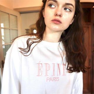 Lochie - ÉPINE PARIS embroidery sweat white×pink