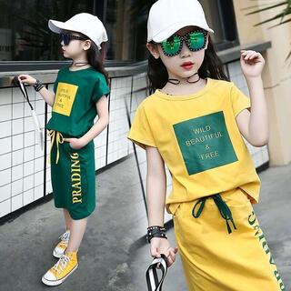 KSEA161キッズ 子供服 セットアップ 夏Tシャツ+スカート 半袖 ゆったり