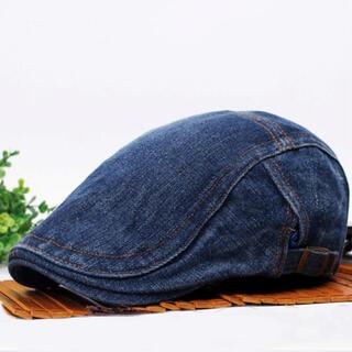 236 ハンチング帽 メンズ ベレー帽 デニム ローキャプ 人気 おしゃれ 帽子(ハンチング/ベレー帽)