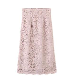 JILL by JILLSTUART - ギュピールレーススカート。ピンク