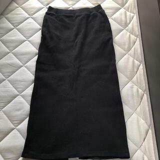 ユニクロ(UNIQLO)のUNIQLO リブタイトスカート 最終価格(ロングスカート)