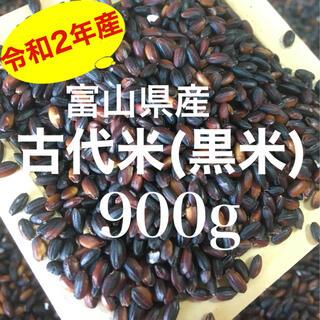 令和2年産 富山県産 古代米 黒米(紫黒米)餅米 900g(米/穀物)