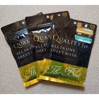 QUALITY FIRST - クオリティファースト オールインワン シートマスク ザ・ベスト  3枚×3袋