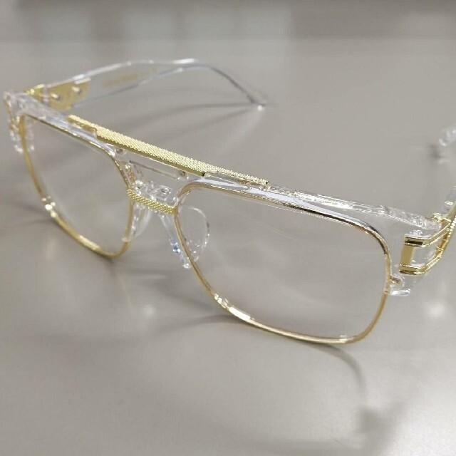 サングラス クリアゴールド メンズのファッション小物(サングラス/メガネ)の商品写真