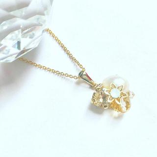 スワロフスキー(SWAROVSKI)の【天然石】シトリン 宝石箱のようなネックレス  (ネックレス)