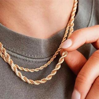 TODAYFUL - シンプル ロープ ネックレス ゴールド ステンレス スネークチェーン