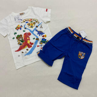 mikihouse - ミキハウス100センチ Tシャツパンツセット 新品