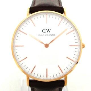 ダニエルウェリントン(Daniel Wellington)のダニエルウェリントン 腕時計 - E36R1 白(その他)